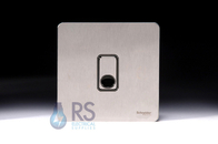 Schneider Screwless Flat Plate Stainless Steel Flex Outlet Plate GU2403BSS