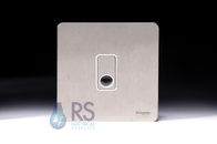 Schneider Screwless Flat Plate Stainless Steel Flex Outlet Plate GU2403WSS