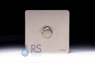Schneider Screwless Flat Plate LED Dimmer Switch Stainless Steel GU6412LSS