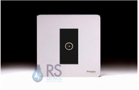 Schneider Screwless Flat Plate TV Socket Polished Chrome GU7410MBPC