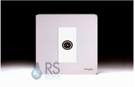 Schneider Screwless Flat Plate TV Socket Polished Chrome GU7410MWPC