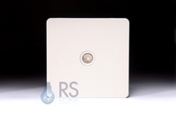 Schneider Screwless Flat Plate TV Socket White Metal GU7410WPW