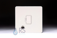Schneider Screwless Flat Plate Unswitched Spur Flex Outlet White Metal GU5403WPW