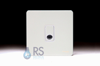 Schneider Screwless Flat Plate White Metal Flex Outlet Plate GU2403WPW