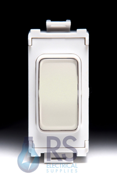 Schneider Ultimate 2 Way Retractive Centre Off Grid Switch Pearl Nickel GUG202OCWPN