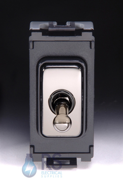 Schneider Ultimate 2 Way Toggle Grid Switch Black Nickel GUG102TBBN