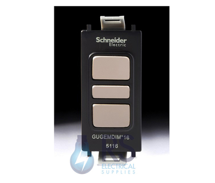 Schneider Ultimate Electronic Dimmer Grid Module Black Nickel GGBGUGEMDIMLBBN