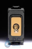 Schneider Ultimate 2 Way Toggle Grid Switch Polished Brass GUG102TBPB
