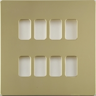 Schneider Ultimate Screwless Polished Brass 8G Grid Plate GUGS08GPB