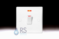Schneider Ultimate Slimline White Moulded 20A DP Switch Neon GU2011