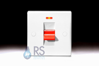 Schneider Ultimate Slimline White Moulded 50A DP Switch Neon GU4011