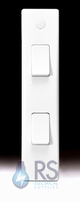 Schneider Ultimate Slimline White Moulded Architrave Light Switch GU1022A