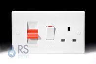 Schneider Ultimate Slimline White Moulded Cooker Switch & Socket GU4000