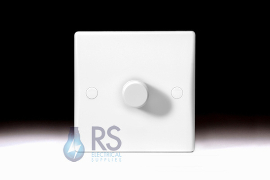 Schneider Ultimate Slimline White Moulded Dimmer Light Switch GU6012C