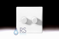 Schneider Ultimate Slimline White Moulded Dimmer Light Switch GU6022C