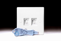 Schneider Ultimate Slimline White Moulded Double RJ45 Socket GU7072