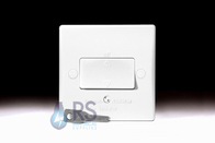 Schneider Ultimate Slimline White Moulded Fan Isolator Switch GU1013