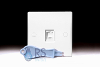 Schneider Ultimate Slimline White Moulded RJ45 Socket GU7071