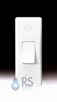 Schneider Ultimate Slimline White Moulded Architrave Light Switch GU1012A