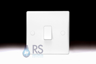 Schneider Ultimate Slimline White Moulded Light Retractive Switch GU1012R