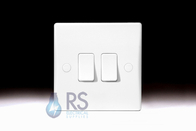 Schneider Ultimate Slimline White Moulded Light Switch GU1022