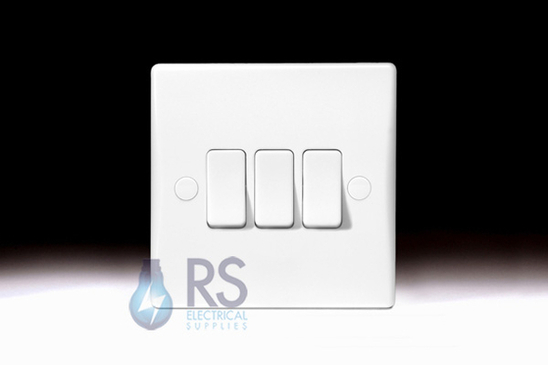 Schneider Ultimate Slimline White Moulded Light Switch GU1032