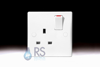 Schneider Ultimate Slimline White Moulded DP Single Socket GU3010D