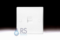 Schneider Ultimate Slimline White Moulded Telephone Master Socket GU7061