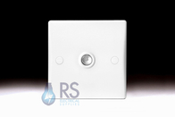 Schneider Ultimate Slimline White Moulded TV Socket GU7010
