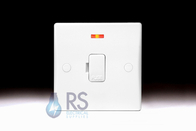 Schneider Ultimate Slimline White Moulded Unswitched Spur Neon GU5001