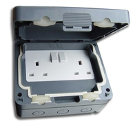 Schneider Weatherproof Double Socket IP66 GWPIU3020