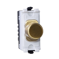 Schnider Lisse Screwless Deco Rotary Grid Dimmer Satin Brass GGBLGRDIMLSB