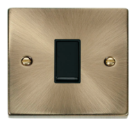 Scolmore Click Deco Antique Brass 1 Gang 2 Way Switch VPAB011BK