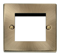 Click Deco Antique Brass 2G Euro Plate VPAB311