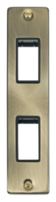 Scolmore Click Deco Antique Brass  2G Twin Architrave Switch Plate VPAB472BK