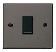 Scolmore Click Deco Black Nickel 1 Gang 2 Way Switch VPBN011BK