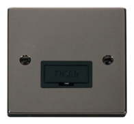 Scolmore Click Deco Black Nickel 13A Unswitched Fused Connection Spur Unit without Flex Outlet VPBN650BK