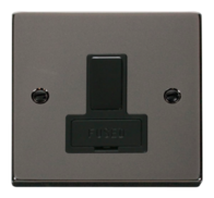 Scolmore Click Deco Black Nickel 13A Switched Fused Connection Spur Unit without Flex Outlet VPBN651BK