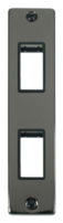 Scolmore Click Deco Black Nickel 2G Twin Architrave Switch Plate VPBN472BK