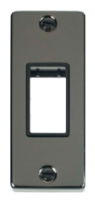 Scolmore Click Deco Black Nickel Architrave Switch Plate VPBN471BK