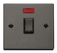 Scolmore Click Deco Black Nickel Ingot 20A DP Switch Neon VPBN723BK