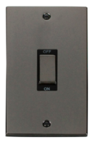 Scolmore Click Deco Black Nickel Ingot 45A DP 2G Switch VPBN502BK