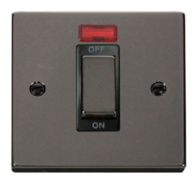 Scolmore Click Deco Black Nickel Ingot 45A DP Switch Neon VPBN501BK