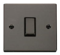 Scolmore Click Deco Black Nickel Ingot Light Switch 1 Gang 2Way VPBN411BK