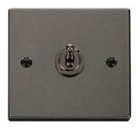 Scolmore Click Deco Black Nickel Toggle Switch 1 Gang 2Way VPBN421