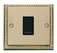 Scolmore Click Deco Georgian Style 10AX 1 Gang Intermediate Switch GCBR025