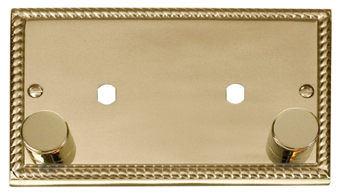 Scolmore Click Deco Georgian Style 2 Gang Plate Double Dimmer Aperture GCBR186