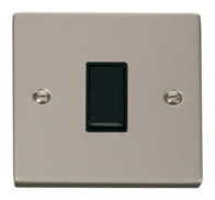 Scolmore Click Deco Pearl Nickel 10AX 1 Gang Intermediate Switch VPPN025