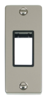 Scolmore Click Deco Pearl Nickel Architrave Switch Plate VPPN471