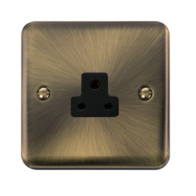 Scolmore Click Deco Plus Antique Brass 1G 2A Round Pin Socket Outlet DPAB039BK